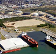 Aerial image of Pascagoula port